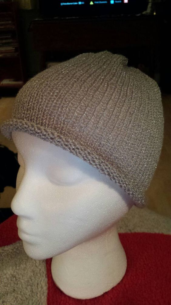 Check out this item in my Etsy shop https://www.etsy.com/listing/217891825/silver-sparkle-knit-hat