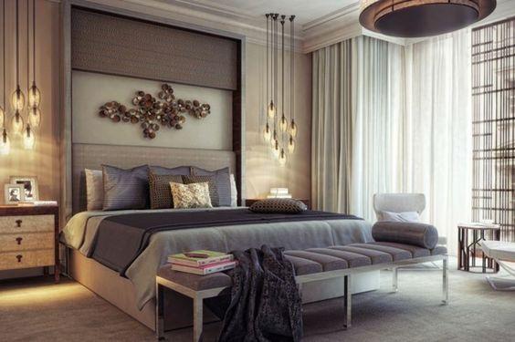 schlafzimmer bett holzboden wandfarbe grau Wohnideen Pinterest - gestaltungsideen schlafzimmer edel ton halten