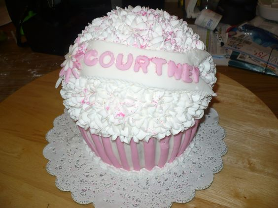 Giant Cupcake Cake!!!  This was very fun to make!
