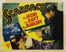 Scarface (1932) | Movie poster | Paul Muni, George Raft, Boris Karloff