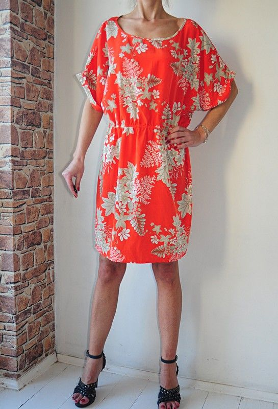 George Sukienka Tunika Pomaranczowa Kwiaty 50 Vinted Dresses Fashion Off Shoulder Dress