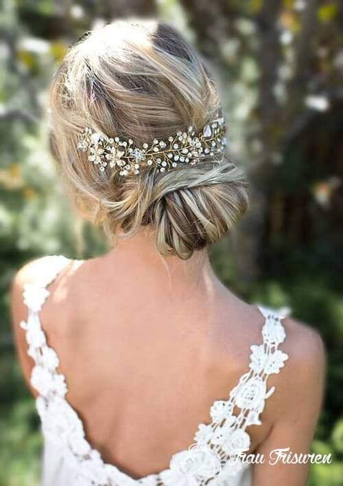 Schone Braut Hochsteckfrisuren Fur Langes Haar Haarschmuck Hochzeitsfrisuren Braut Hochsteckfrisur