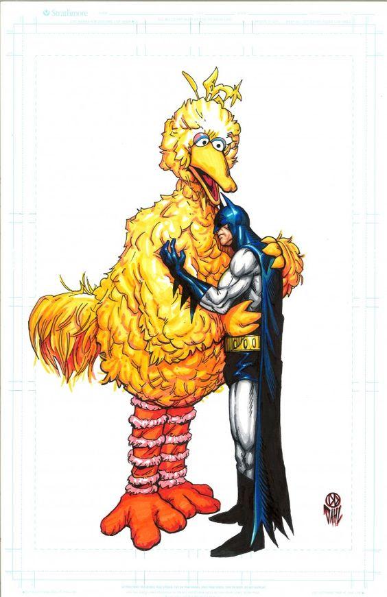 """gothamart: """"Batman/Big bird by Daniel Dahl """""""