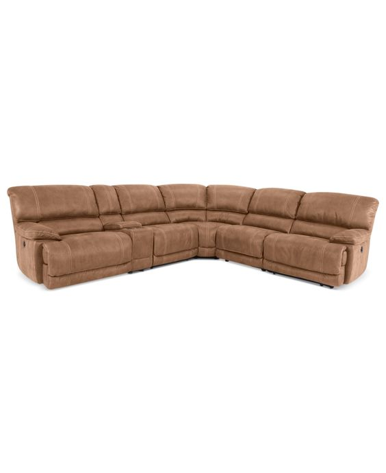 Jedd 6 Pc Fabric Sectional With 2 Power Motion Recliners