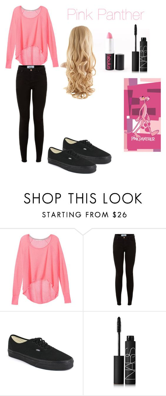 """""""Pink panther"""" by sloanearia ❤ liked on Polyvore featuring Victoria's Secret, Vans and NARS Cosmetics"""
