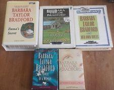 0025 Lot of 5 Barbara Taylor-Bradford Audio Books