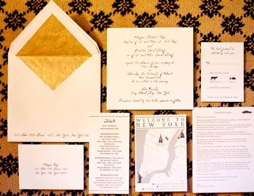 gold envelope liner, wedding invitation ideas, gold wedding, gilded