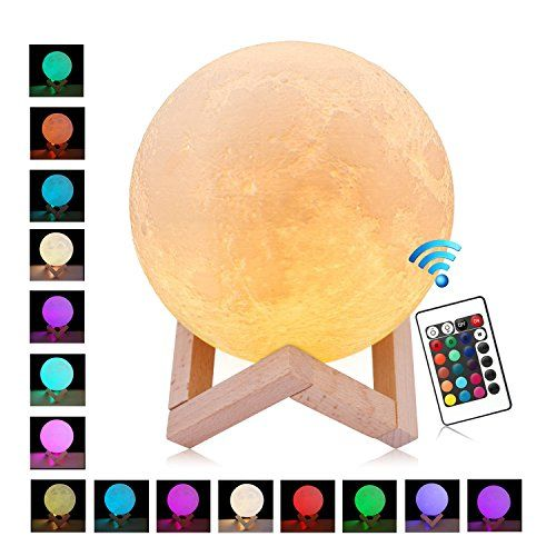 Taotenk Moon Lamp 16 Colors Remote Control Moon Light 3 Https Www Amazon Com Dp B078k7sxqr Ref Cm Sw R Pi Dp U 3d Photo Led Night Light Moon Light Lamp