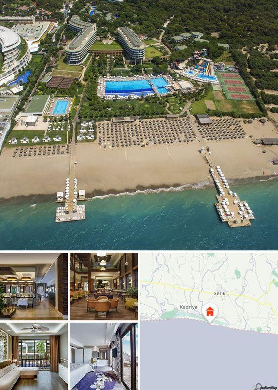 Cet hôtel est situé à Belek, au bord d'une longue plage de sable s'étirant tout du long de la côte. Le centre-ville et ses attractions se trouve à 2 km de l'hôtel.  Les transports publics s'arrêtent juste devant l'hôtel. L'aéroport d'Antalya est à environ 35 km.