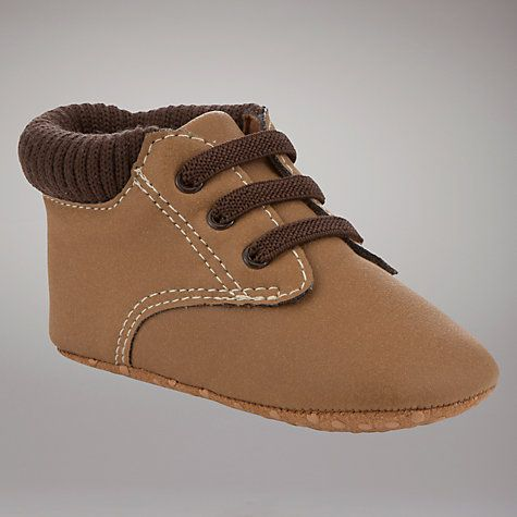 Buy John Lewis Baby Work Boots, Brown Online at johnlewis.com £5