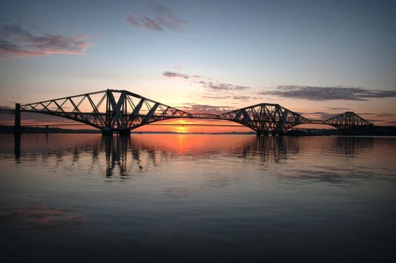 Sunset over the Forth Bridges By Alan Sinclair
