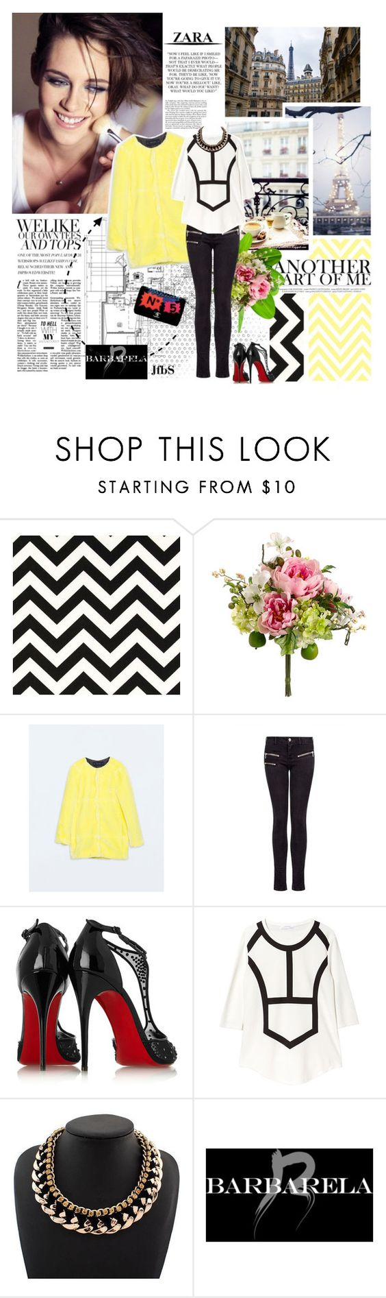"""""""#394 - Kristen Stewart """"Love, Live and Smile!"""""""" by jfbs ❤ liked on Polyvore featuring Zara, Prada, MANGO, Christian Louboutin, Chanel and barbarelajewelry"""