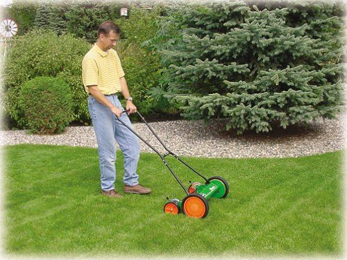 Scotts 2000-20 20-Inch Classic Push Reel Lawn Mower : Walk Behind Lawn Mowers. Rating 3.7/5 stars,  1,243 customer reviews