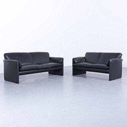 Leolux Bora Designer Leder Sofa Garnitur Schwarz Dreisitzer Couch Echtleder 5994 Furniture Home Decor Couch