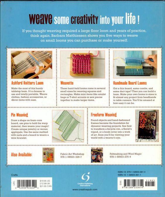 Small loom and freeform weaving: five ways to weave - Barbara Matthiessen - Google Livres