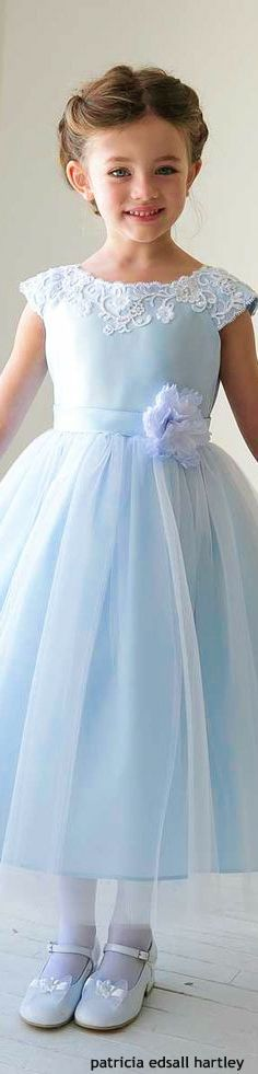 babyblue.quenalbertini: Sweet flower girl dress: