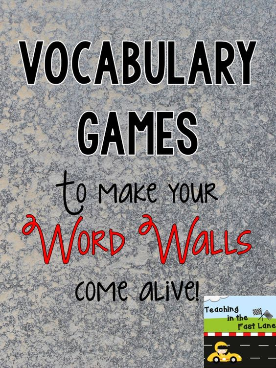 Vocabulary games that can be played with any content area. I love these games for reinforcing words from our word wall!