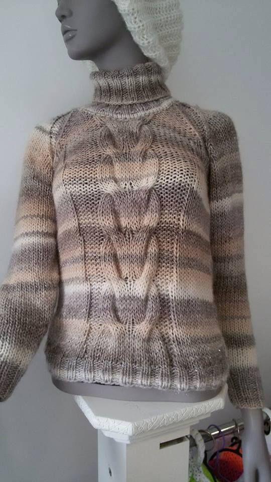 Sweater made by Lucia Estevam with Luna yarn/Camisola feita por Lucia Estevam com o fio Luna