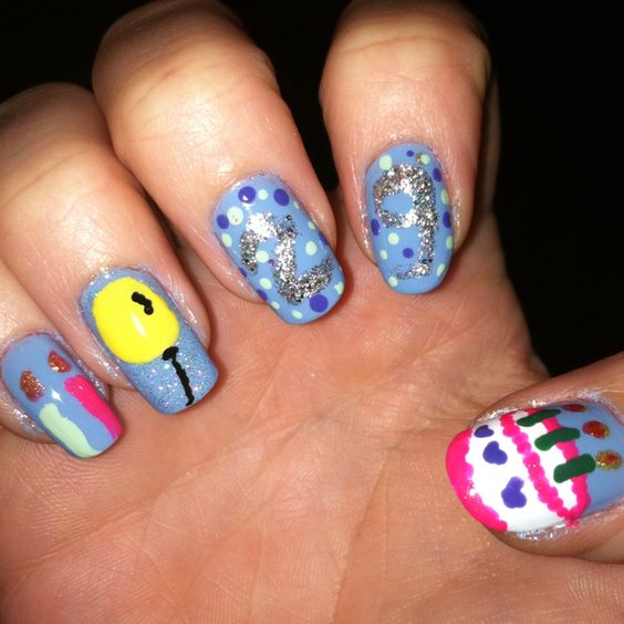 Did my nails almost like this for my 20th Birthday!- Friday May 18th