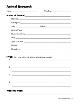 Animal Research - Time saver this is a ready to use lesson plan ...