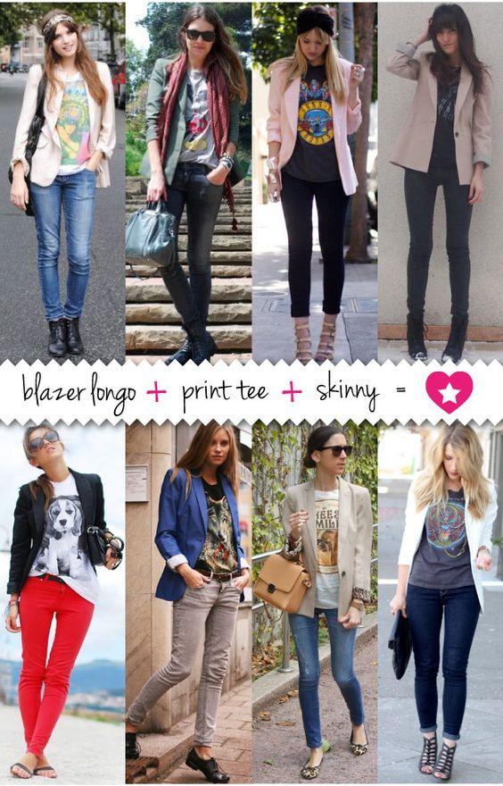 Blazer + Tee + Skinny