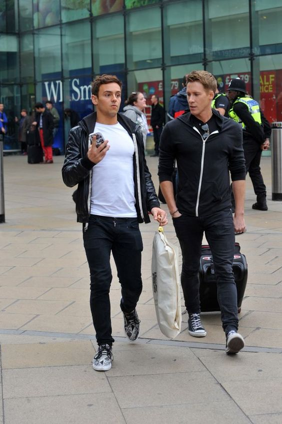 Tom Daley and Dustin Lance Black show off their engagement rings together for first time - 3am & Mirror Online
