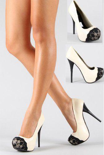 lace toe heels...LOVE.