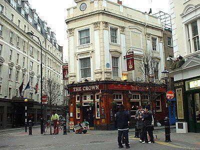 The Crown Pub - Seven Dials - Covent Garden London | shops ...