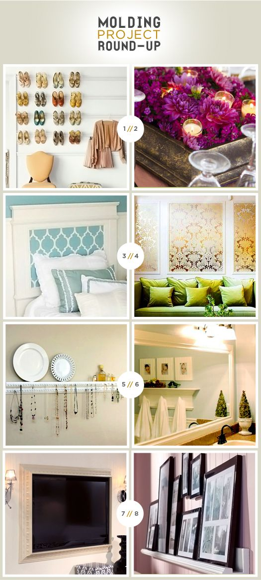 great ways to use molding -More Design Please - MoreDesignPlease