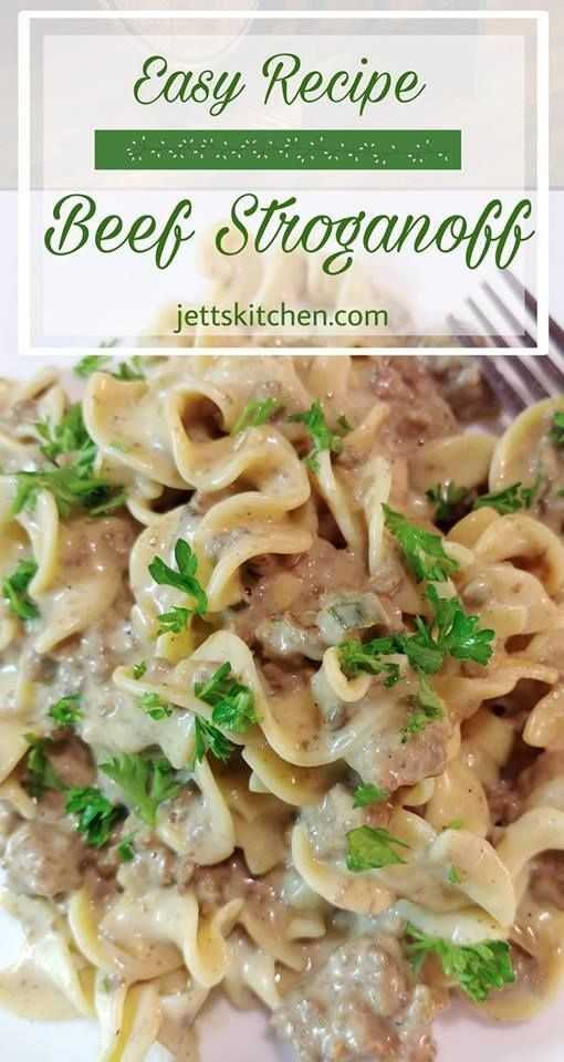 Quick And Easy Beef Stroganoff Recipe Jett S Kitchen Recipe Beef Recipes Easy Beef Dinner Beef Stroganoff Easy