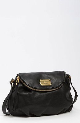 Marc by Marc Jacobs Classic Q Natasha Black Leather Crossbody Bag | eBay
