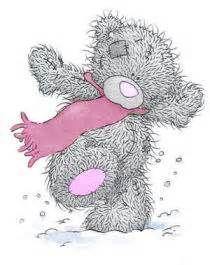 Tatty Teddy met roze sjaal
