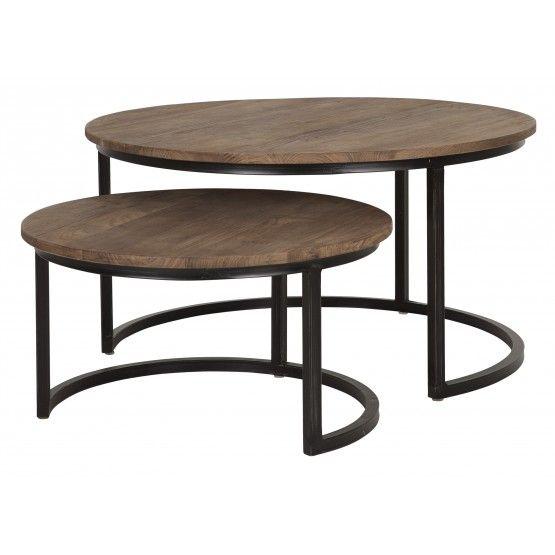 Salontafel rond set van 2 d bodhi fendy collection tafels for Salontafel rond design