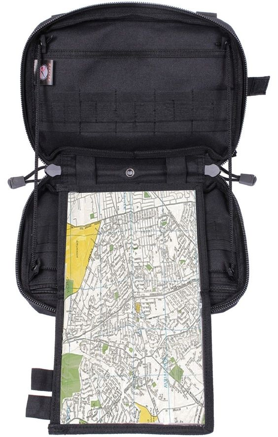 """Rothco Advanced Tactical Admin Map Pouch - Black 10"""" MOLLE Military Pouches"""