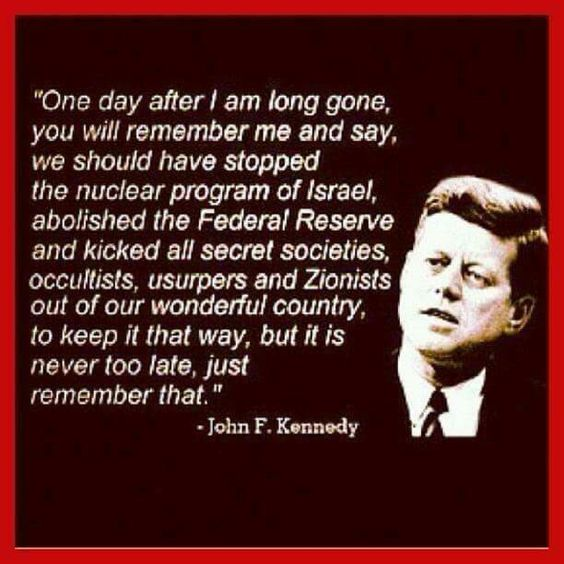 Image result for Kennedy quote jews win the war