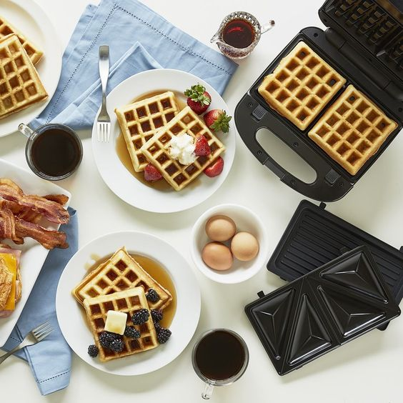 Happy #NationalWaffleDay! Show us what kind of waffles you're making today with your #BLACKANDDECKER waffle maker.