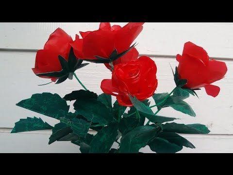 Diy Plastik Kresek Bunga Mawar Merah Yang Indah Plastic Roses Youtube Bunga Mawar Daun