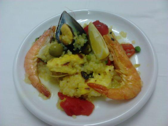 Paella de pescado receta de shirataki de konjac con - Paella de pescado ...