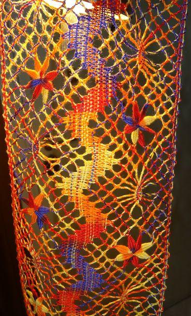 Bolillos y algo màs: Entredos a Torchòn : Entramado Colorido Ecléctico