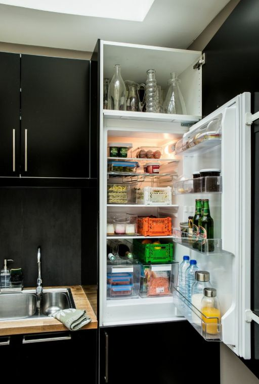 frigo tag res r frig rateur cuisine ranger rangement cuisine cagettes bouteilles on. Black Bedroom Furniture Sets. Home Design Ideas