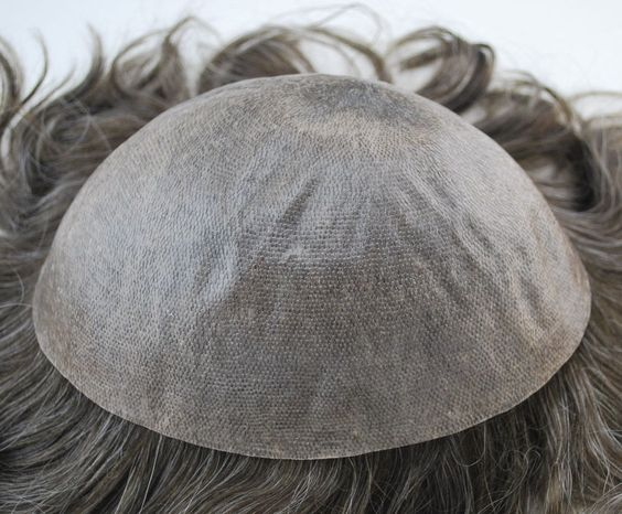 CLEARANCE Dark Brown Wavy Hair Toupee Hairpiece for Men Injected 15 Grey | eBay