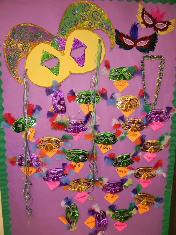 Mardi Gras Preschool Bulletin Board: Bulletin Board Door, Preschool Ideas, Gras School, Preschool Mardi, Preschool Bulletin Boards, Gras Boards, Mardi Gras Preschool Crafts, Mardi Gras Bulletin Boards