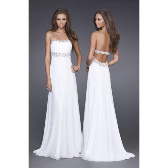 Long Strapless Sweetheart Open Back Prom Dress  Prom Dresses ...