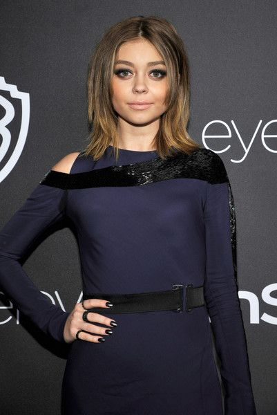 Actress Sarah Hyland attends the 2017 InStyle and Warner Bros. 73rd Annual Golden Globe Awards Post-Party.