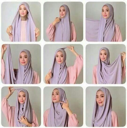 Un autre tutoriel facile suivre hijab tutorial tuto tutoriel hijab inspiration howto - Comment mettre un voile d hivernage ...