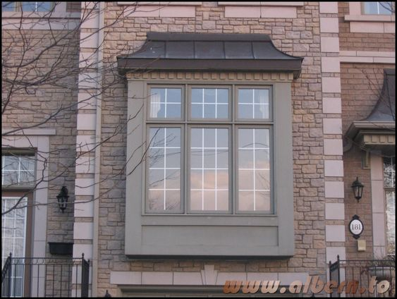 This is a box bay window because it is square shaped with for Box bay windows for sale