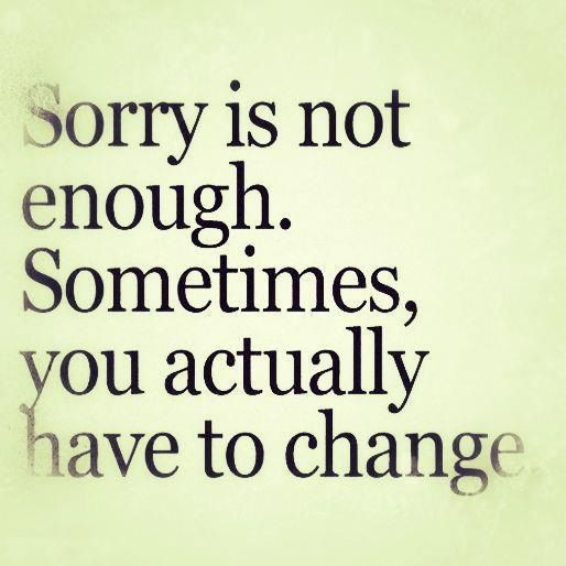 """""""Sorry"""" is just a word"""