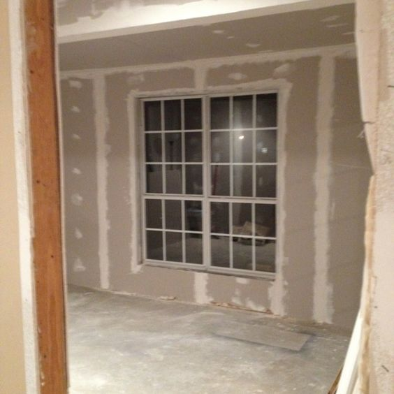 First coat of mud on the drywall...this was my department!
