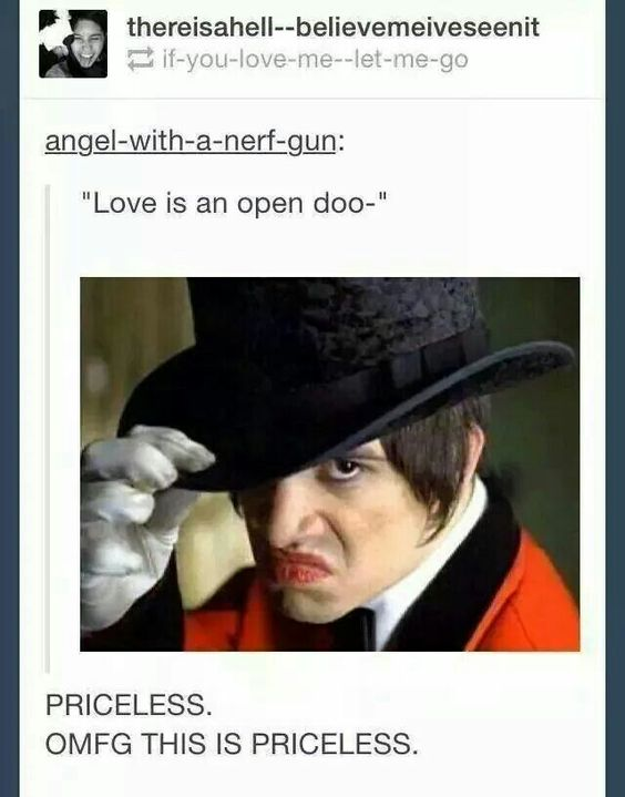 This is possibly the funniest thing I've ever seen and if you don't get it I feel bad for you < By Panic! At The Disco