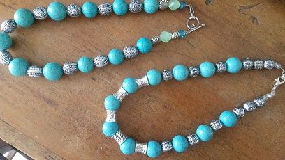 Turquoise and silver Necklaces.  Turquoise has always been considered a protective colour to wear.